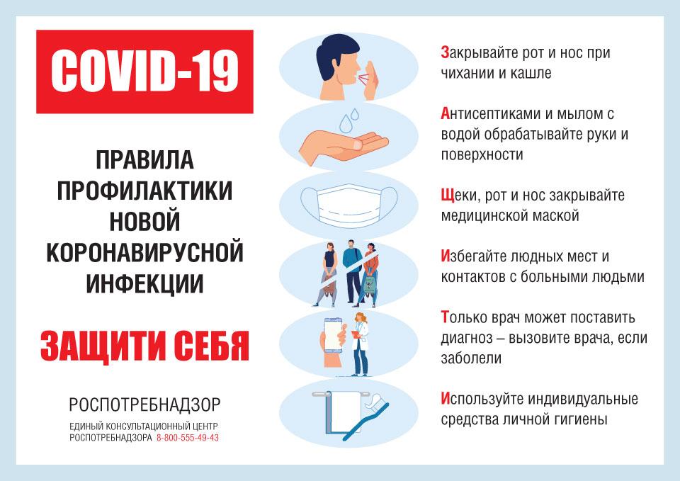 Памятка для обучающихся и работников по COVID-19