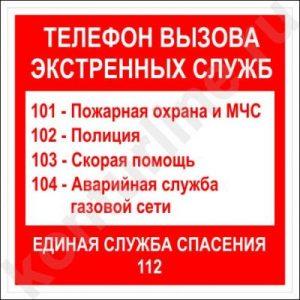 список номеров